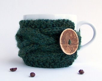 Knit Coffee Cozy, Tea Cozy, Coffee Mug Cozy, Coffee Cup Sleeve, Coffee Cup Cozy, Cup Warmer