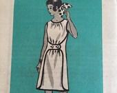 1Vintage 60s Mod Sleeveless Day Dress The Pattern Bureau, Fashion Service 4829 - Mail Order Pattern Size Medium