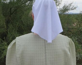 White Veiling Headcovering Knit Tie Scarf for Christian Women prayer veil