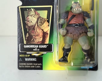 Star Wars Action Figure Gamorrean Guard, Jabba the Hutt's Palace - Star Wars Alien, Return of the Jedi - 1990's Unopened Star Wars Toy