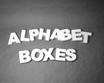 Gift idea: Alphabet DIY present boxes
