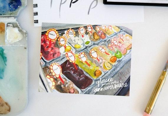 Glacee Birthday Card