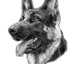 Dog Lover Gift Idea Pet Portrait Dog Sketch