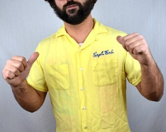 RARE Vintage 1950s Embroidered Bowling Shirt - Pacific Lamp and Supply Co.
