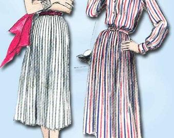 1950s Vintage Vogue Sewing Pattern 8565 Misses Shirtwaist Dress Size 10 28 Bust