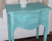 French Nightstand Vintage French Provincial Bow Front Poppy Cottage PAINT to ORDER Painted Furniture