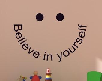 Quote Wall Decal Never Give Up Sticker Motivational Wall Words Decal Doorway Mirror Window Mural Office Dorm Locker Room School