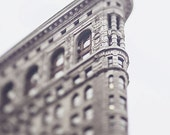 New York Flatiron Building Picture, Travel Photograph, Architecture Print, New York Home Decor, Wall Art, Black and White Photography