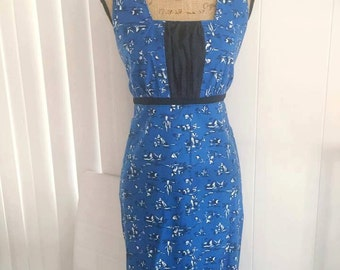 Adorable Vintage Novelty Print Dress in Mexican Siesta Print -- Size M-L