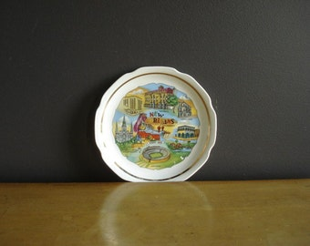 New Orleans. Louisiana Love - Small Vintage Souvenir Plate - NOLA Plate