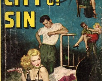 CITY OF SIN, Pulp Fiction Digest from 1950s