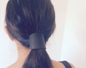 NEW DESIGN! BLACK leather hair cuff by Odi Design