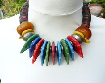 Tuareg Necklace,Talhakimt Tanfouk Ring Necklace UNIQUE, Tribal necklace, African necklace