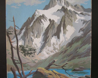 Rugged Northwest Mountain Beauty 11X2 Craft Master Mid Century Vintage Paint by Number PBN Canvas Unframed Painting