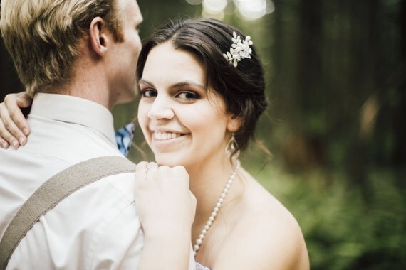 Bridal Hair Comb, Leaf