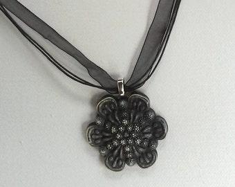 Vintage Button Choker - Unique Bohemian Necklace