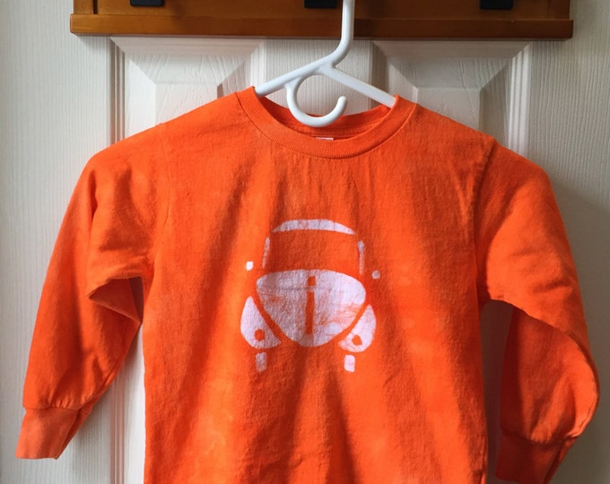 Kids Car Shirt, Orange Car Shirt, Kids Beetle Shirt, Boys Car Shirt, Girls Car Shirt, Kids Volkswagen Shirt, Orange Beetle (4/5)
