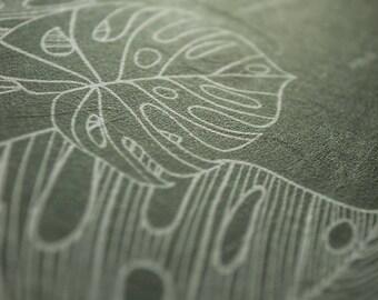Japanese Washi Ketubah Print by Jennifer Raichman - Tropical Flora