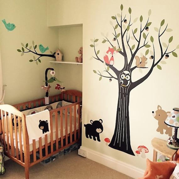 Woodland Nursery Wall Decals Nursery Tree Wall Decal