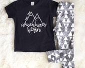 Adventure t-shirt | cute boy clothes | baby boy outfit | cute boy tee | boy shirt | mountian shirt | boy first birthday | boho boy bothday