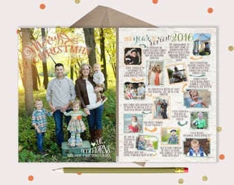 Birch Year in Review Christmas Photo Cards - 2 sided