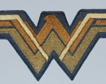 The New Wonder Woman inspired embroidered logo applique for your DIY needs, applique, original artwork
