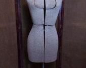 Vintage ACME Adjustable DRESS FORM - Size A - Mannequin - Metal Stand