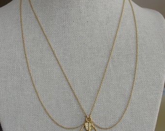 Artemis Bow and Arrow Necklace