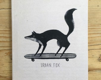 A6 Notebook - Urban Fox