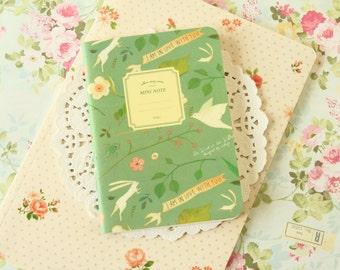Mint Green Willow Story Series cartoon notebook