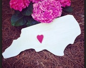 Custom wood state cut out-Great for weddings baby showers birthday parties or going away parties Guestbook Choose size at checkout