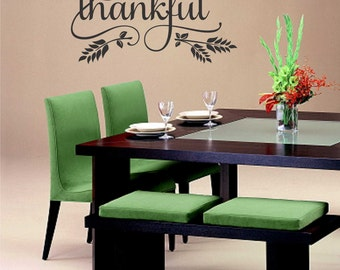 be thankful thanksgiving decal vinyl wall lettering vinyl wall decals vinyl letters vinyl lettering wall quotes religious decal