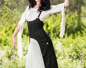 The Underbust Holster Vest w/ Pockets & DETACHABLE Hood in Black Stripe (Sizes S-XXL)