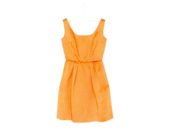 60s Mini Dress * Vintage 1960s Dress * Tangerine Dream Satin Dress * Small