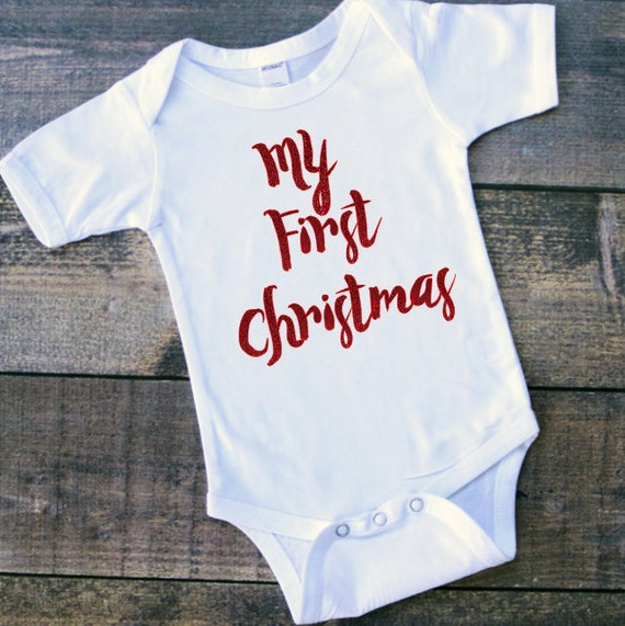 My first Christmas-Christmas boy Onesie Baby boy by ...
