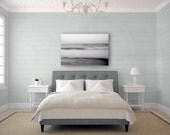 Large Abstract Canvas Art, Modern Ocean Canvas Wall Art, Black White Canvas, Gray Ocean Canvas, Gray Waves Canvas, Gray Wall Art Canvas