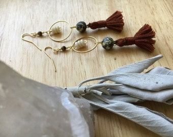 Bone & Tassel Earrings