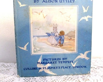 Little Grey Rabbit Goes To Sea, 1958, Alison Uttely, children's book, England, charming, darling, sweet old book