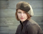 Reserved for Jane -Corduroy Beret Hat Earthy Patchwork
