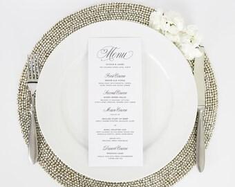Wedding Menu - Dinner Menu - Garden Script Design - Deposit