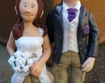 Bespoke Handmade Personalized Wedding Cake Toppers