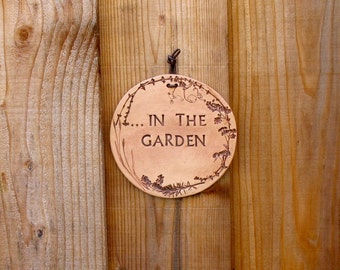 "Ceramic Wall Plaque - ""In the Garden"" - Made Using Real Plants - Medium Size Wall Hanging - Garden Decor - Nature Lover Gift - Botannical"