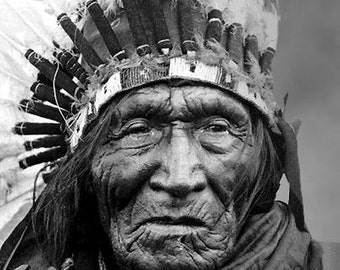 Vintage digital image he dog Sioux circa 1898