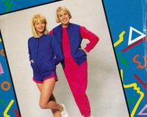 80s Womens Leisurewear Pattern Justknits Zip Front Jacket Jogging Pants Shorts Tracksuit Vest size 8 - 22 UNCUT Factory Folds