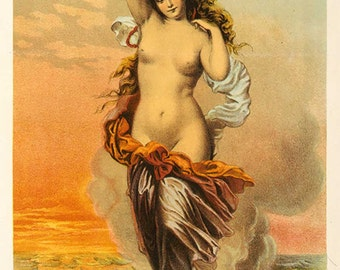 "Vintage Giclee Reproduction of ""Pearl"" Tobacco Label...c1871 - 6""x12"""