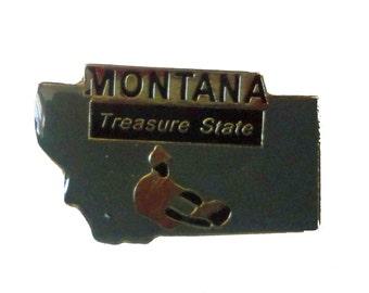 MONTANA Treasure STATE vintage enamel pin cloisonne