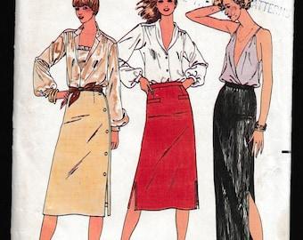 Quick! Butterick 6377 Misses Straight Side Slit Skirts