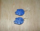 Blue Millennium Falcon Earrings