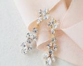 RESERVED- Swarovski Bridal Earrings- Crystal Drop Earrings- Bridal Earrings- Crystal Earrings- Chandelier Bridal Earrings