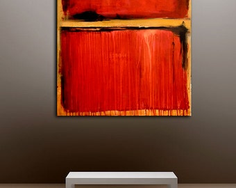 Red Painting 30x40 canvas Art original Painting SALE